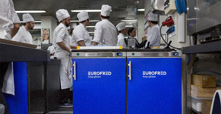 Bajomostradores y armarios de conservación de Eurofred en la cocina de Martín Berasategui