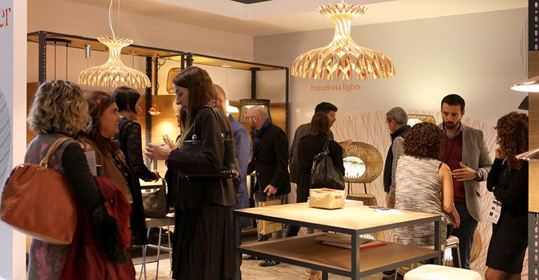 Exposición de productos en la última edición de InteriHOTEL Barcelona