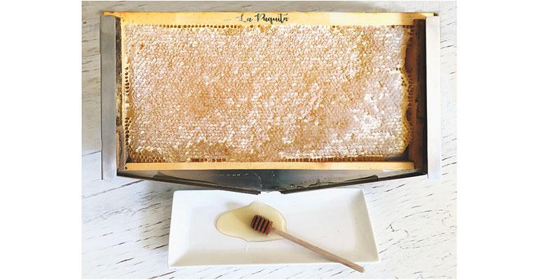 Expositor de panal de miel para horeca