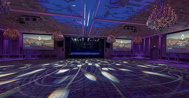 instalaciones proyector laser hotel marriot chiare