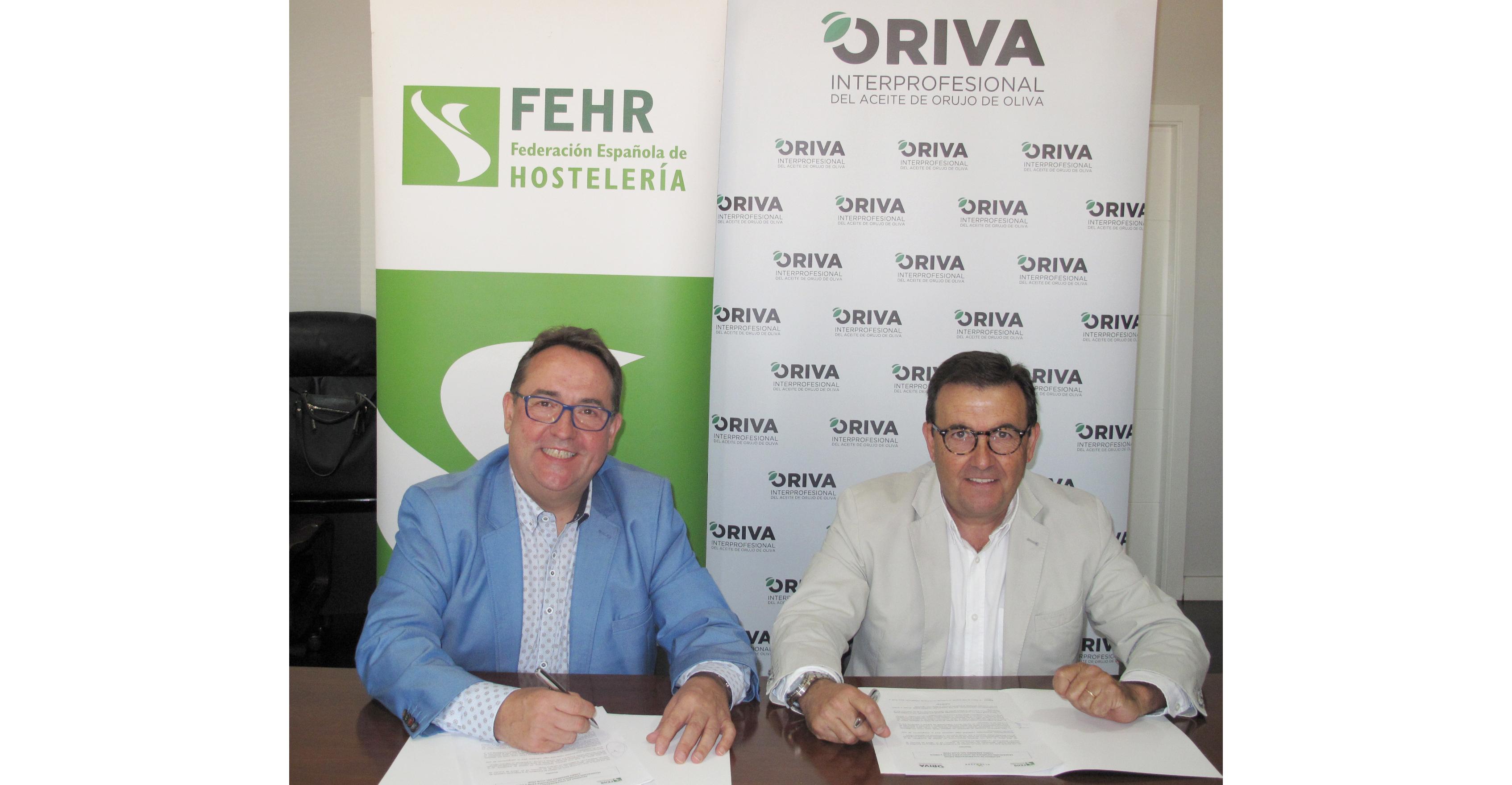 José Luis Yzuel, presidente de FEHR y José Luis Maestro, presidente de ORIVA