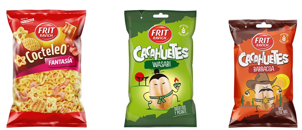Cacahuetes y snacks de sabores intensos