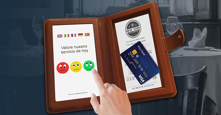Encuestas de satisfacción del cliente en tiempo real para testar nuestro servicio en mesa