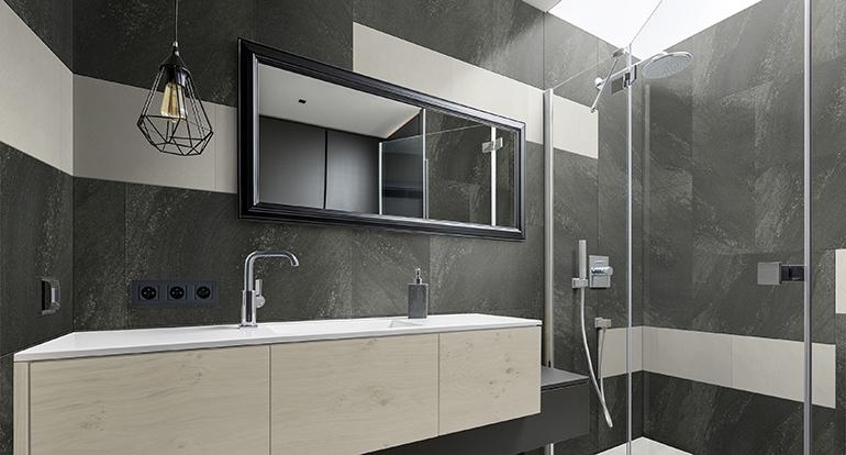 Nueva tendencia decorativa en revestimiento vertical: Combinar formatos y acabados
