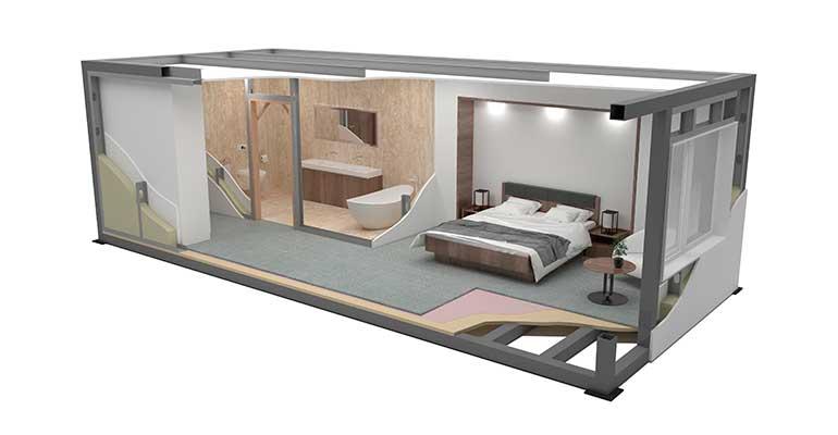 Una habitación en suite prefabricada para hoteles por 25.000 euros