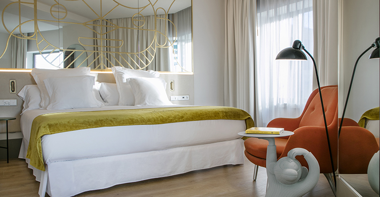 Habitación del Hotel Barceló Torre de Madrid