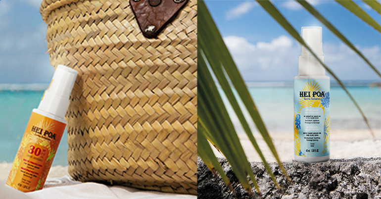 Gama de tratamiento solar con beneficios del aceite natural Monoi para la piel y el cabello