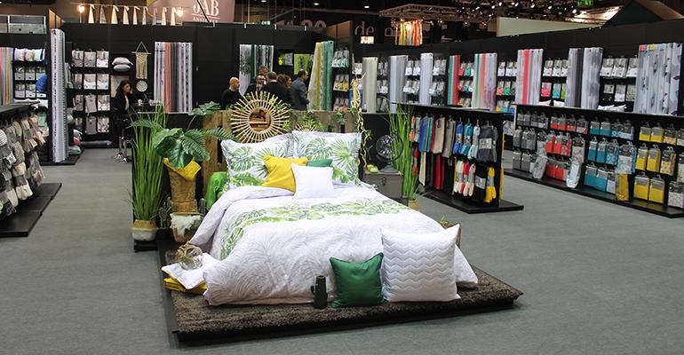 Exposición de ropa de cama en Heimtextil