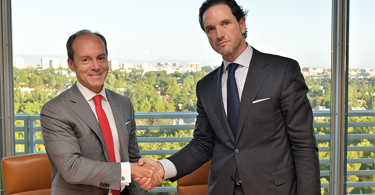 Rami Aboukhair, CEO Santander España junto a Eduardo Petrossi, Consejero Delegado Mahou San Miguel