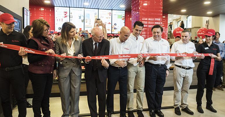 Inauguración Tim Hortons