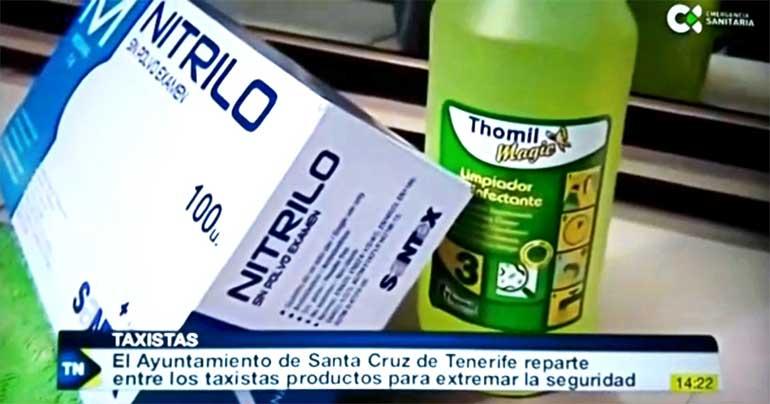 Thomil dona desinfectantes para combatir el coronavirus