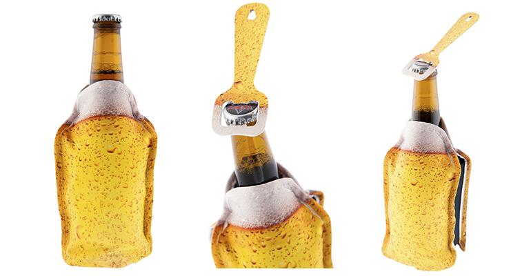 Manga enfriadora y abridor de cervezas de Koala