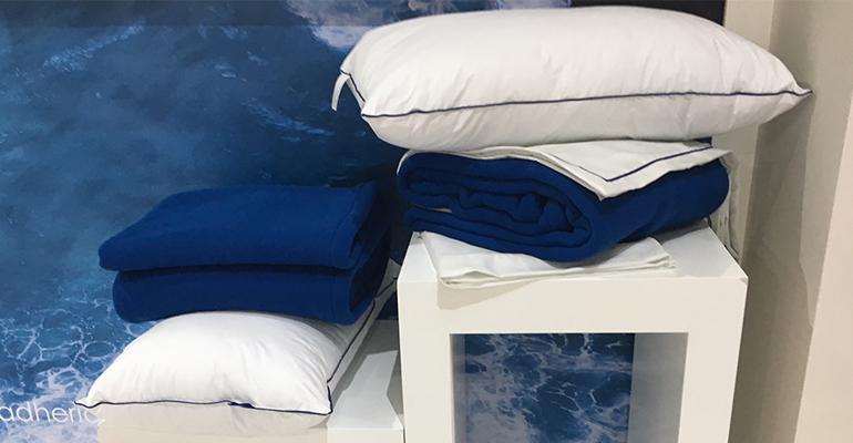 Almohadas, sábanas y mantas de la línea Ocean de Vayoil Textil