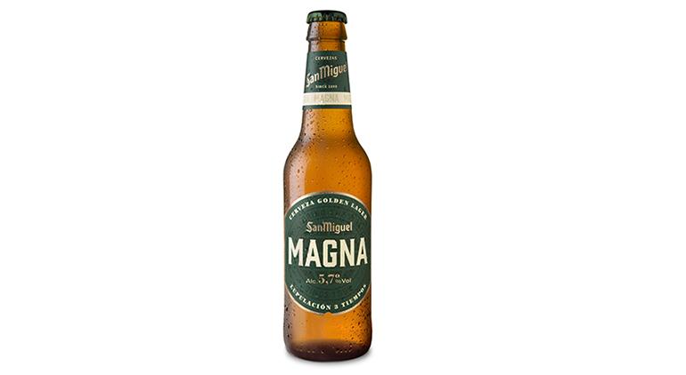 Cerveza Golden Lager con un cuidadoso proceso de lupulación en 3 tiempos con variedades amargas y aromáticas