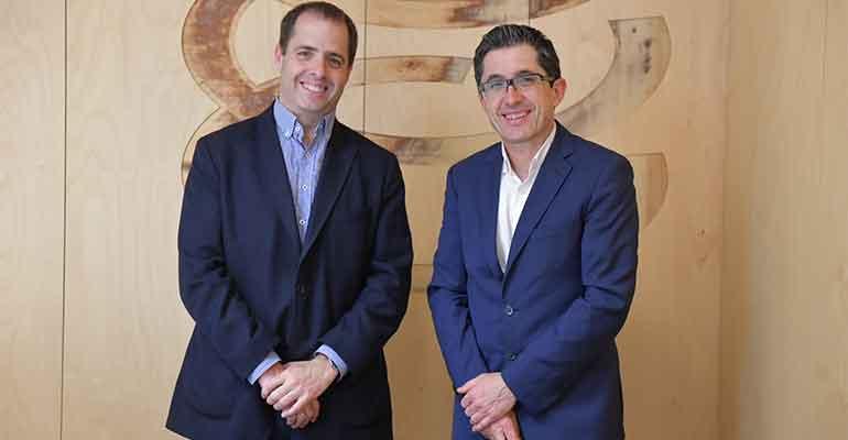 Peio Arbeloa, de Mahou San Miguel  y Joxe Mari Aizega, de Basque Culinary Center