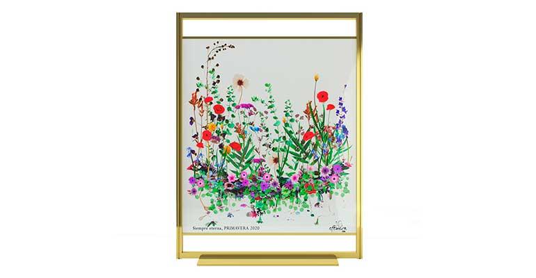 Mampara flores