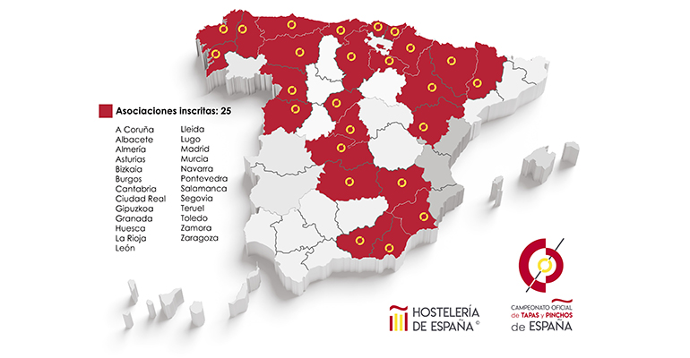 Trece comunidades estarán representadas en el Campeonato de Tapas y Pinchos de España