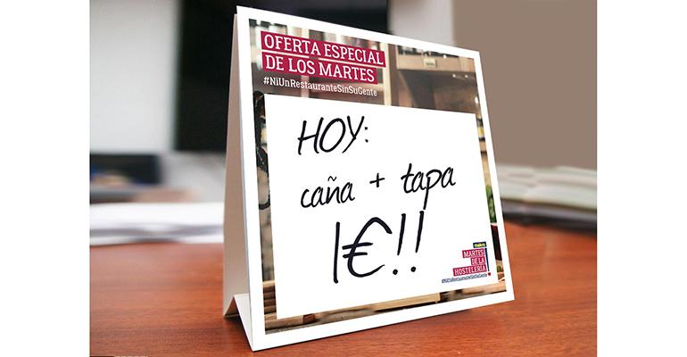 cartel oferta martes de la hostelería