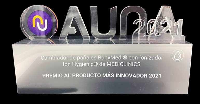 El cambia pañales Babymedi de Mediclinics recibe el premio al producto más innovador del año 2021