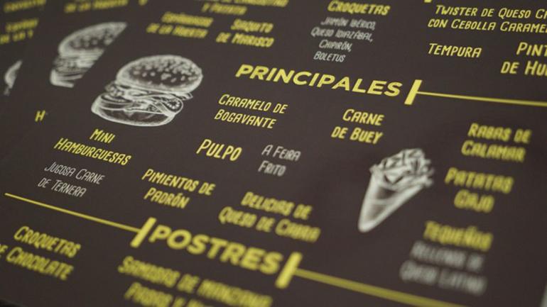 menu coctel