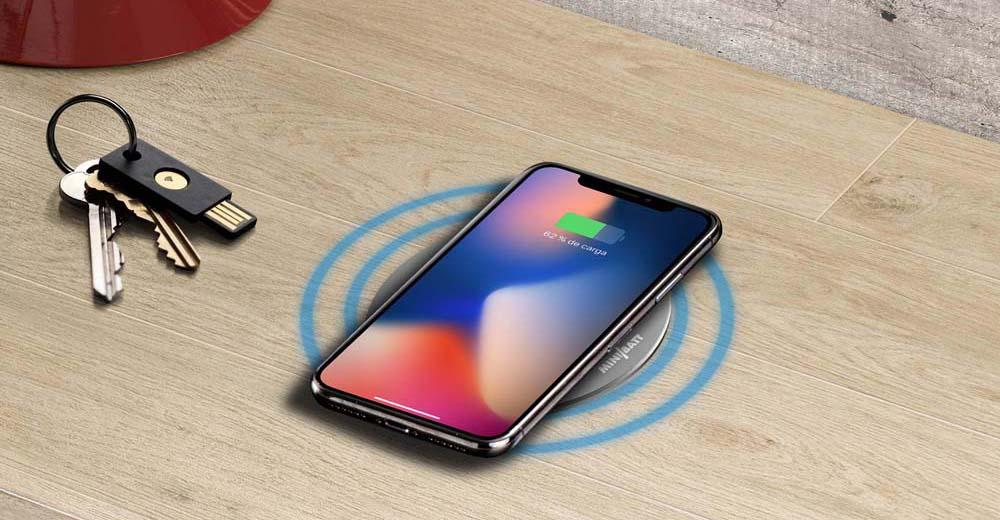 miniBatt cargador inalámbrico de móviles