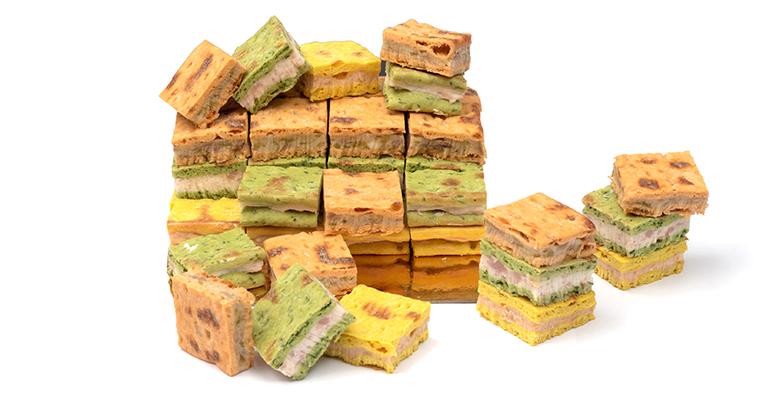 Mini sándwiches de pan polar