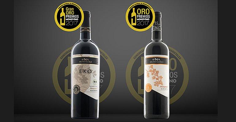 Vinos Murviedro de la variedad monastrell premiados en Monovino