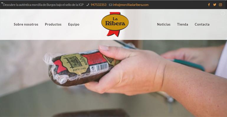 Morcillas La Ribera estrena nueva web más accesible, dinámica e intuitiva