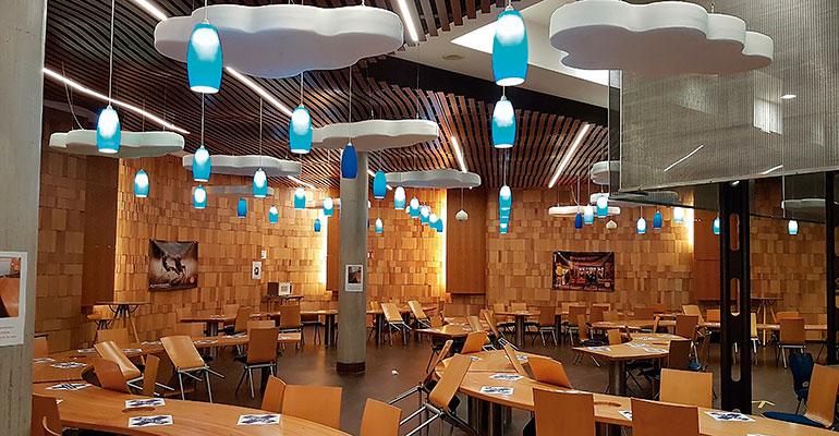 nubes acústicas restaurante