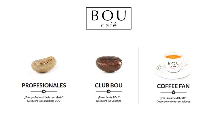 Nueva página web de cafés BOU
