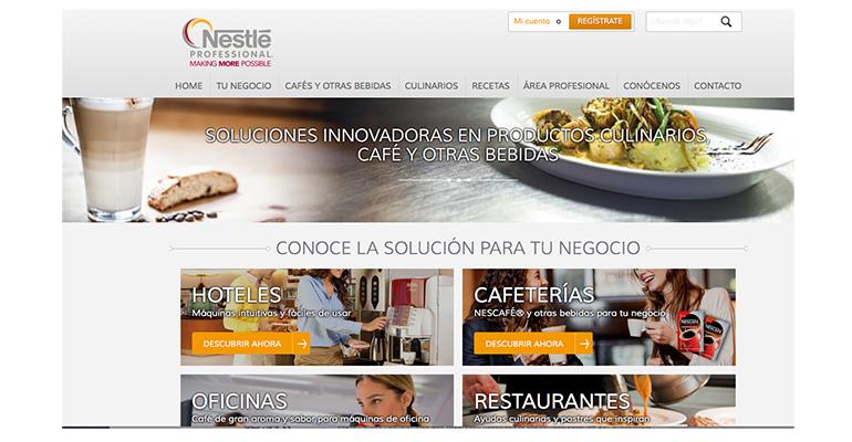 Nueva web de Nestle