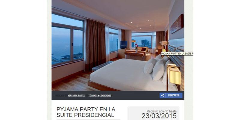 Promoción fiesta de pijamas hilton barcelona