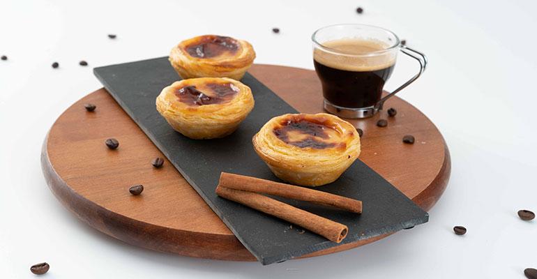 Los Pastéis de Nata bajos en calorías de Ovoplus, producto innovador de Anuga