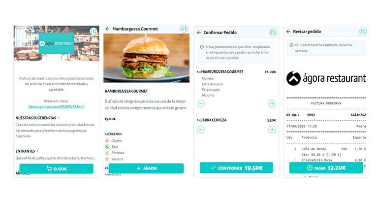 Solución de pedido y pago en mesa desde el móvil
