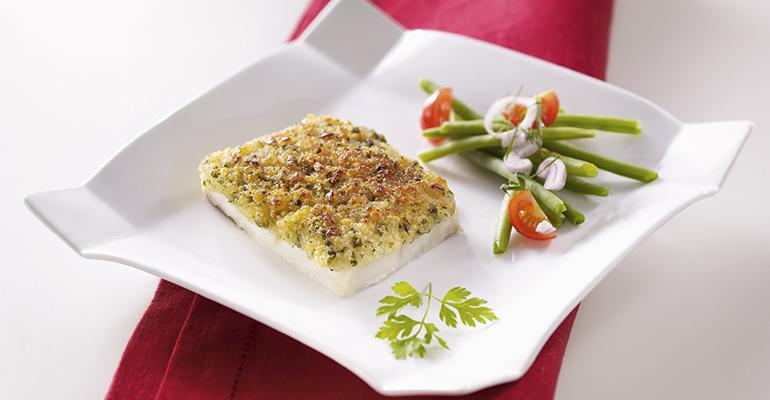 Porción de pescado blanco a la bordalesa