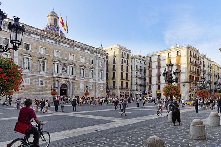 Barcelona plaza san jaume