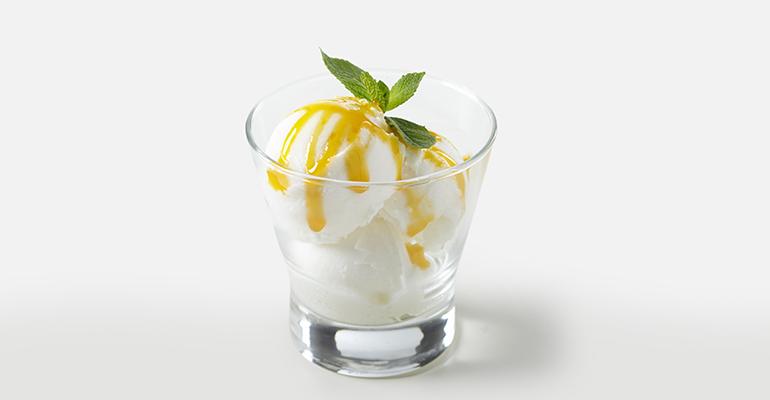 postre de yogur con sirope sin gluten
