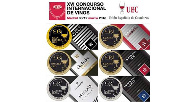 Vinos de Inurrieta premiados en el concurso internacional