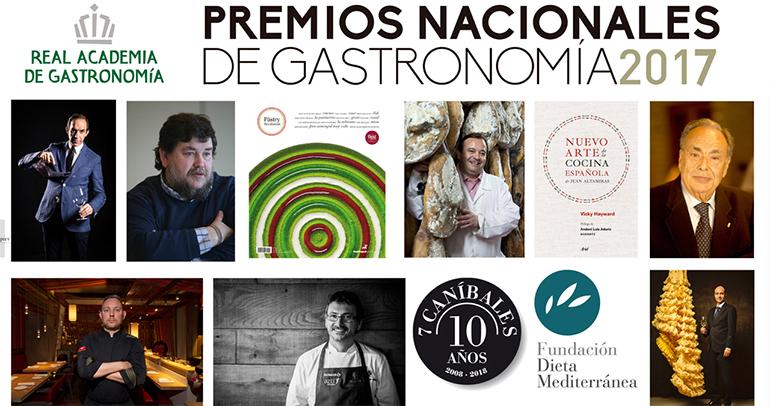 Albert Adrià y Rafael Sandoval y Andoni Luis Aduriz Premios Nacionales de Gastronomía 2017