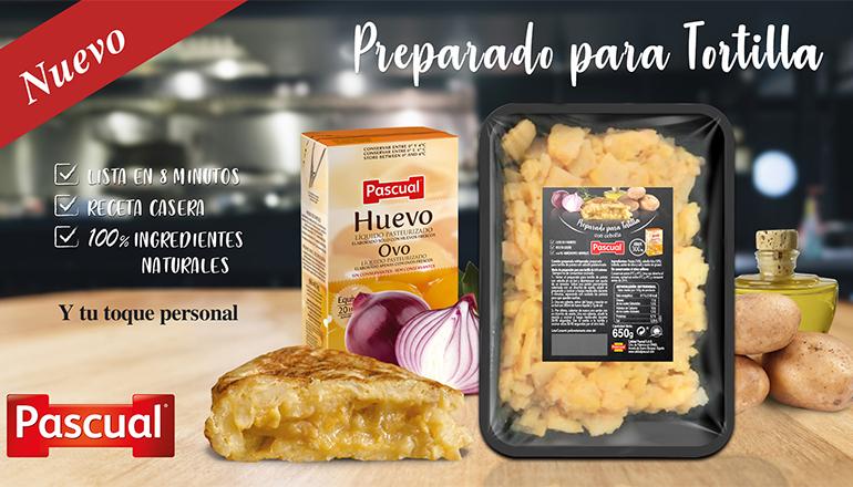 Preparado de tortilla de Calidad Pascual