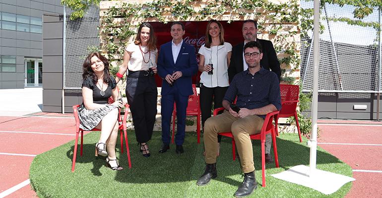 mobiliario para terrazas de Coca-Cola