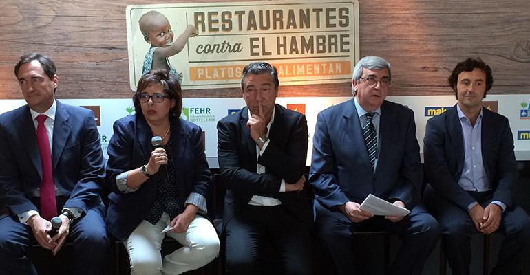 Presentación campaña restaurantes contra el hambre