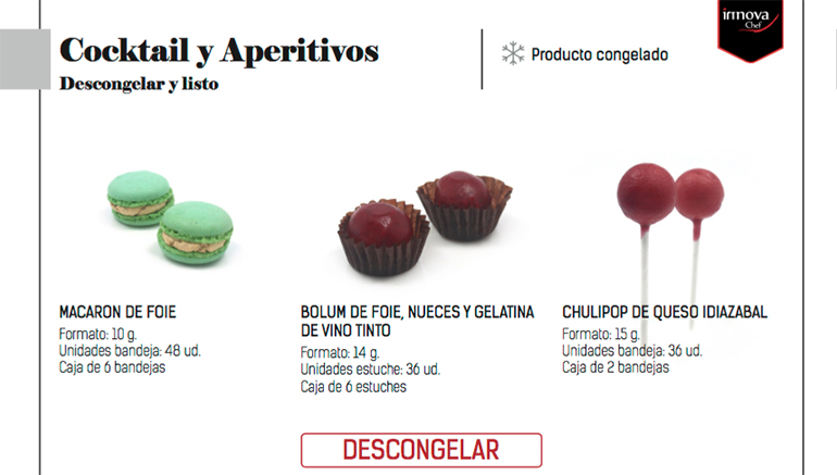 Productos para catering de Innova Chef