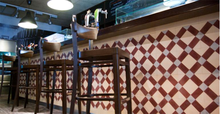 baldosas hidráulicas en bar