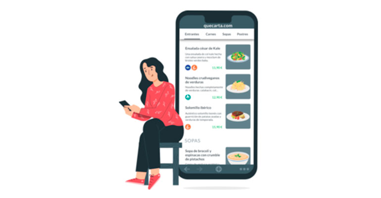 Carta digital con opción multiprecio, categorías de platos y control de productos agotados