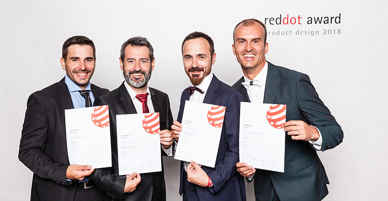 dgar Bosch, Albert Torné, Josep Santallusia y Juan Carlos Quiñones, del equipo de R+D+I de mychef