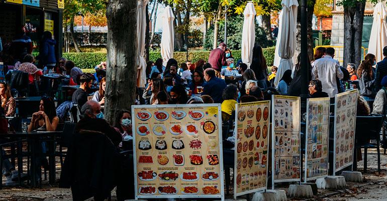 Restaurante en el parque El Retiro Madrid