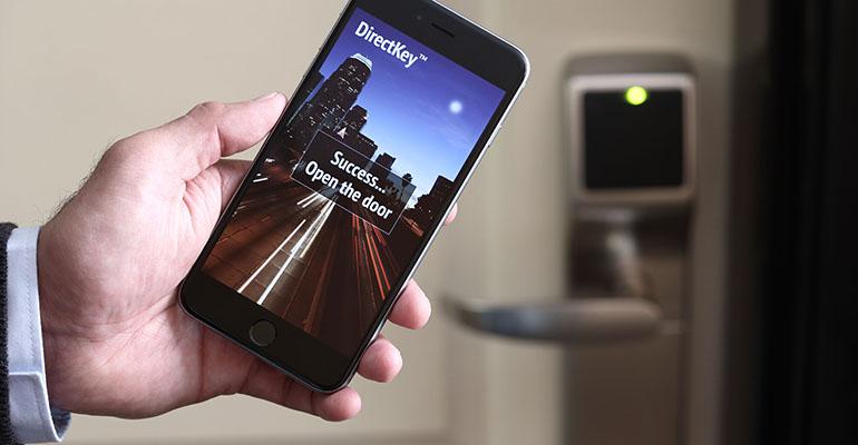 Onity cerradura para hotel con apertura con smartphone