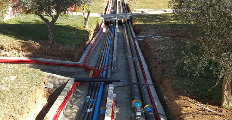 tuberías enterradas sistema red calor