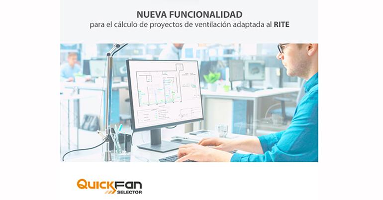 Sodeca desarrolla una nueva funcionalidad para el cálculo de proyectos de ventilación de acuerdo con el RITE